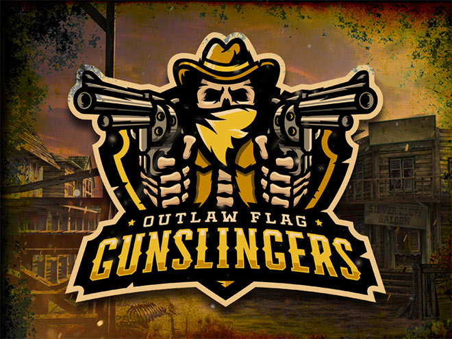 Outlaw Flag Gunslingers Logo by Midnight7Design