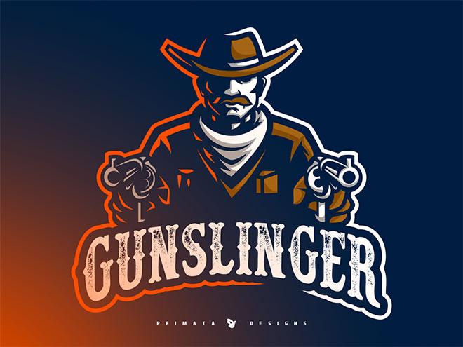Gunslinger Sport Logo by Tiago Fank