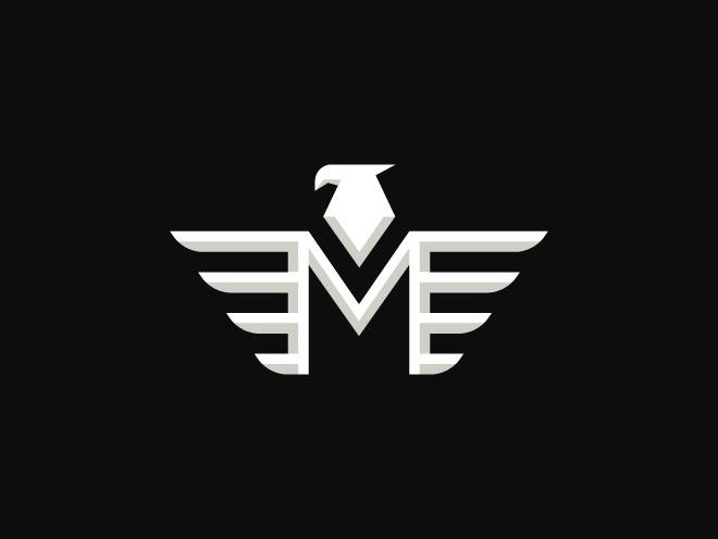 Eagle Letter M by Kana Kasmambetov