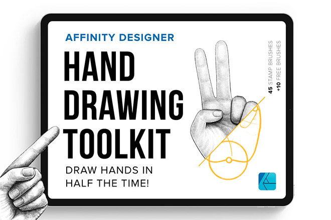 Hand Drawing Tookit for Affinity Designer ($19)