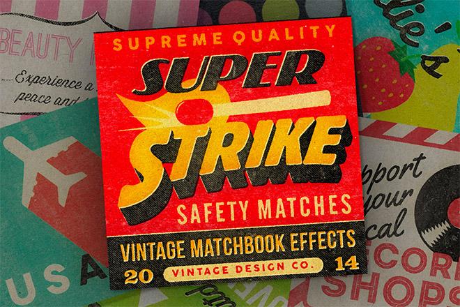 Super Strike Matchbook Effects