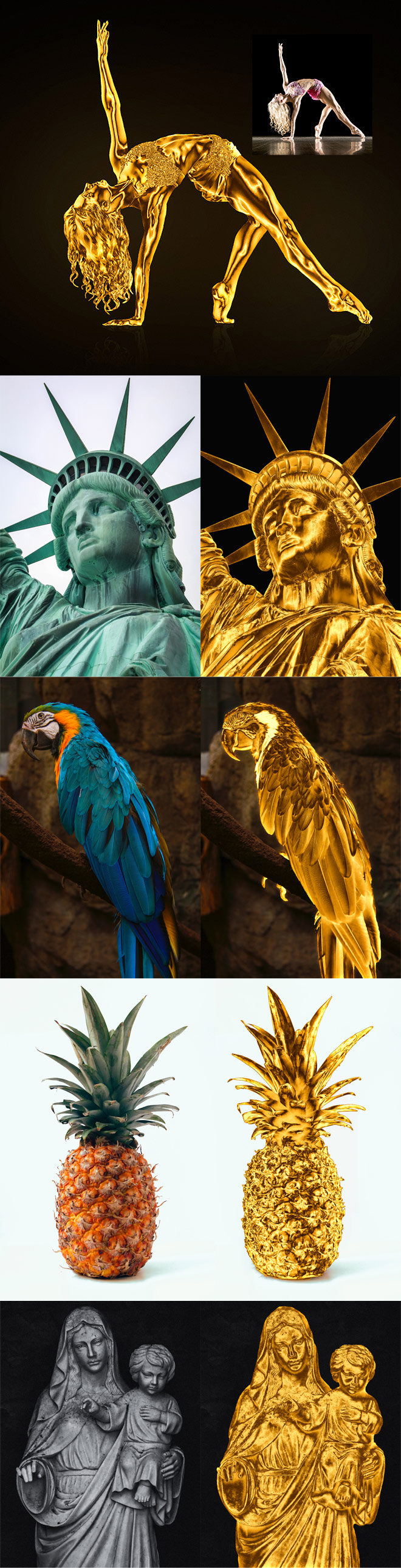 How to Turn Anything into Gold in Photoshop!