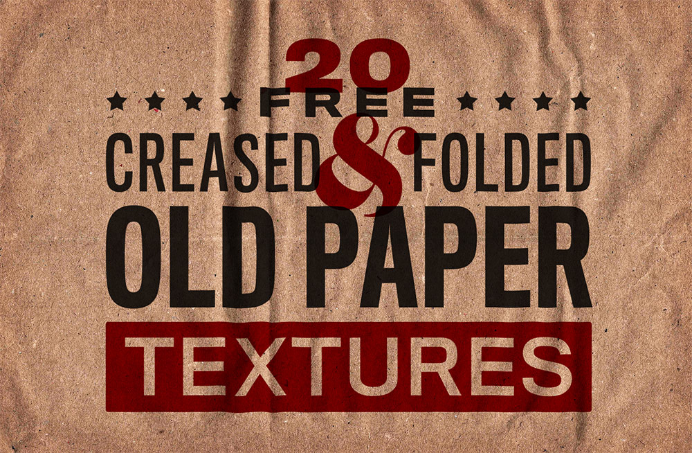 20 Free Old Paper Textures with Creases, Folds and Stains