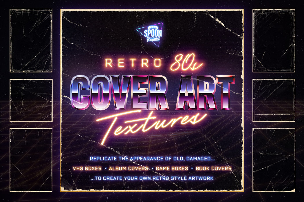 Retro 80s Cover Art Textures