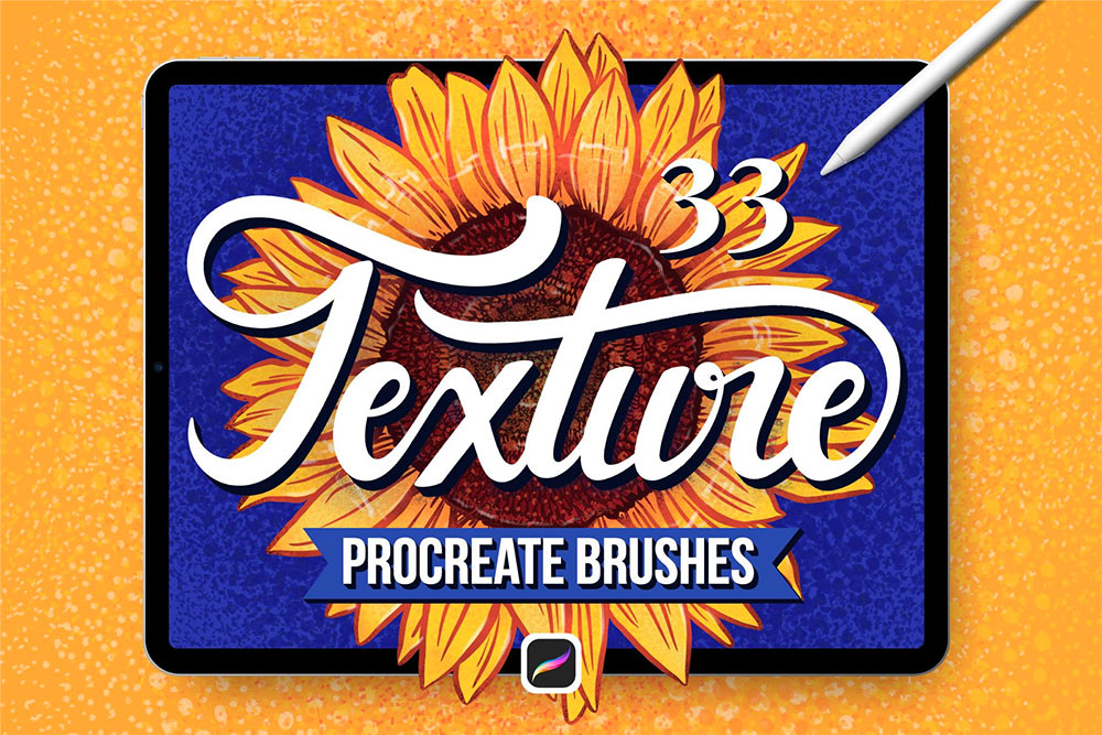 33 Textured Finish Procreate Brushes for Premium Members