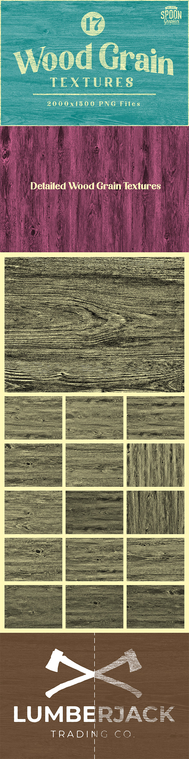 Free Pack of Wood Grain Textures with PNG Transparency