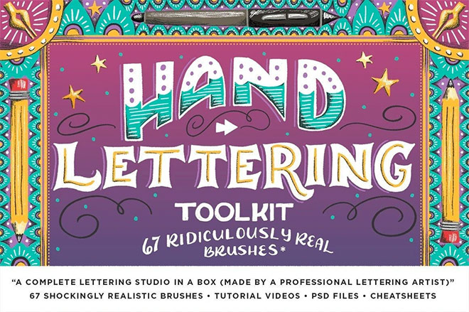 The Hand Lettering Toolkit for Adobe Photoshop