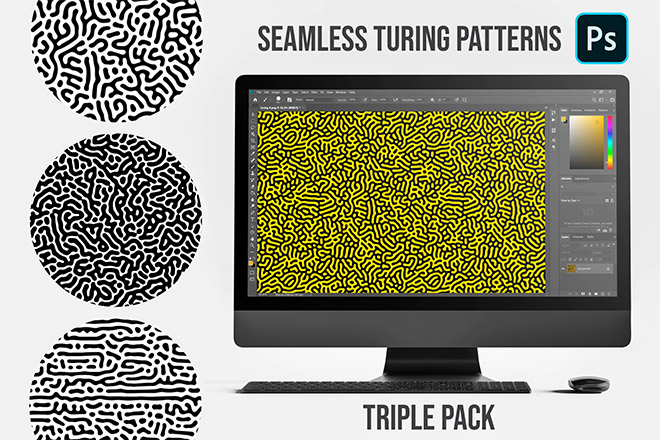Photoshop Turing Patterns