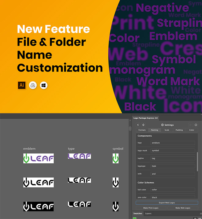 naming - Create All the Logo Files Your Client Needs in Under 5 Minutes