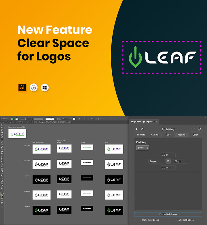 padding - Create All the Logo Files Your Client Needs in Under 5 Minutes