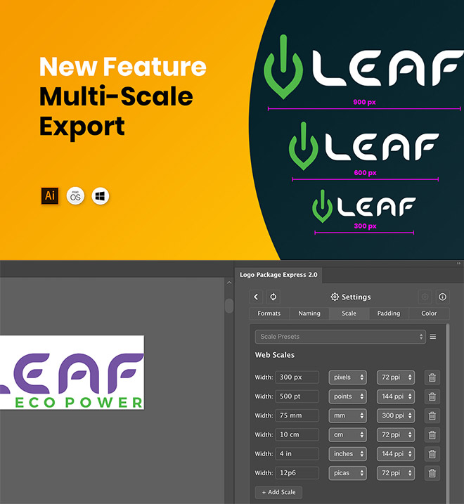 sizes - Create All the Logo Files Your Client Needs in Under 5 Minutes