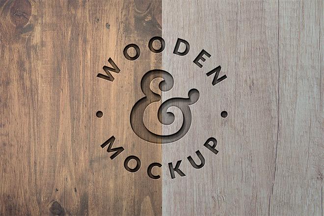 Wood Press Logo Mockup