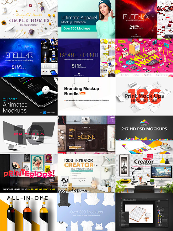 bundle 5 - These Most Popular Design Bundles Are Being Re-run. Grab as Many as You Can!