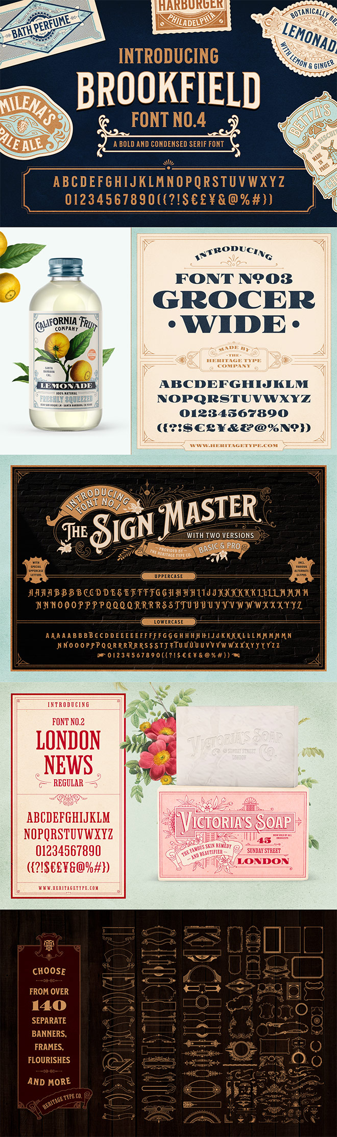 fonts - Save 34% off the Nostalgic Font and Label Collection