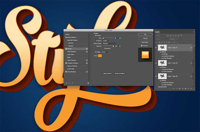 """12 - How to Create 3D Text Effects in Photoshop with the """"Transform Again"""" Technique"""