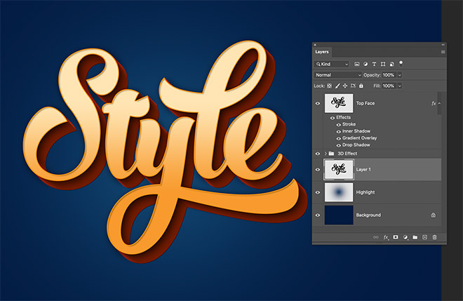 """15 - How to Create 3D Text Effects in Photoshop with the """"Transform Again"""" Technique"""