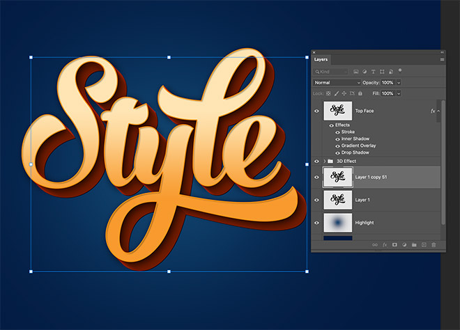 """16 - How to Create 3D Text Effects in Photoshop with the """"Transform Again"""" Technique"""