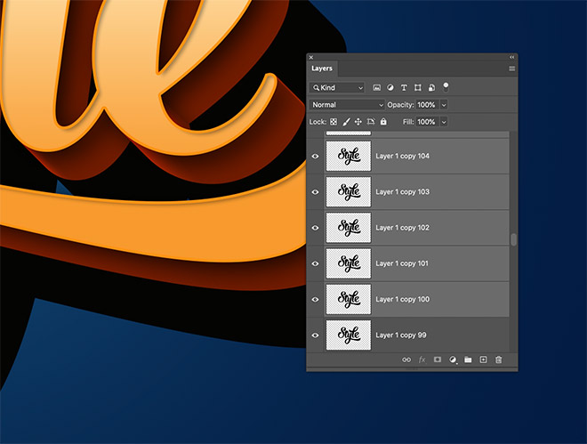 """18 - How to Create 3D Text Effects in Photoshop with the """"Transform Again"""" Technique"""