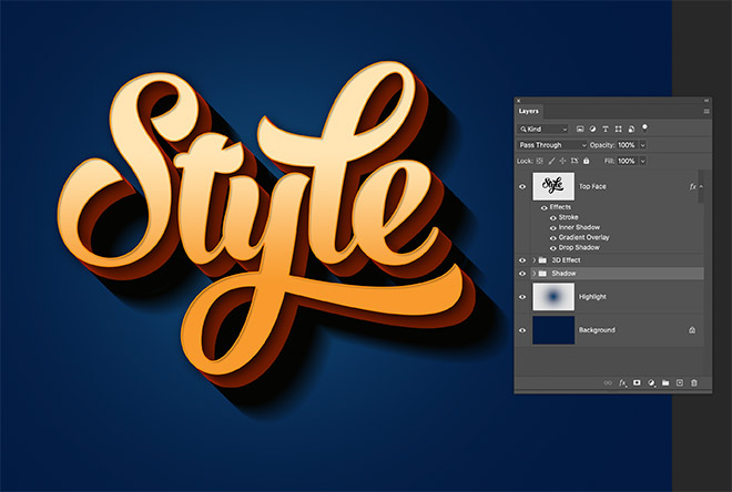 """20 - How to Create 3D Text Effects in Photoshop with the """"Transform Again"""" Technique"""