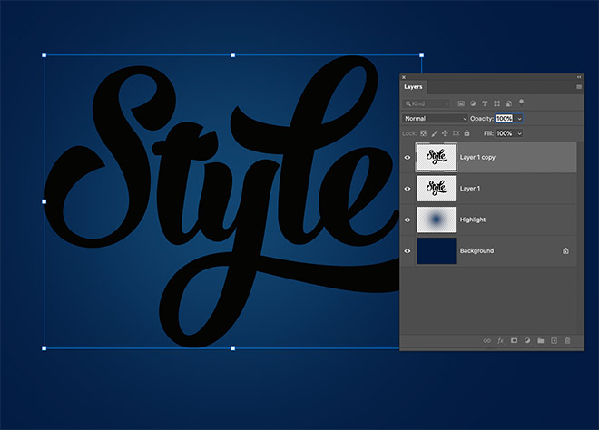 """3 - How to Create 3D Text Effects in Photoshop with the """"Transform Again"""" Technique"""