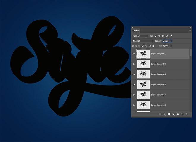"""4 - How to Create 3D Text Effects in Photoshop with the """"Transform Again"""" Technique"""