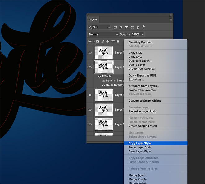"""7 - How to Create 3D Text Effects in Photoshop with the """"Transform Again"""" Technique"""