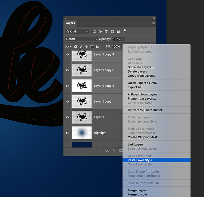 """8 - How to Create 3D Text Effects in Photoshop with the """"Transform Again"""" Technique"""