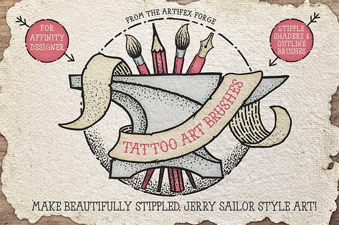 Tattoo art affinity brushes ($ 18)