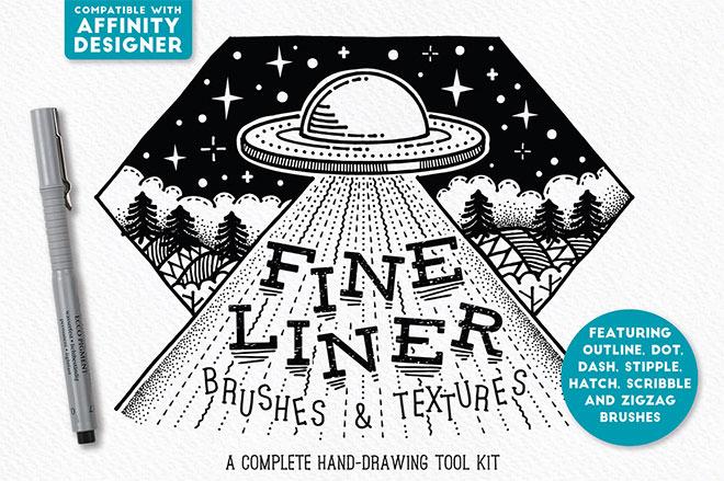 Fine Liner Affinity Brushes ($ 19)