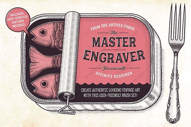 The Master Engraver Affinity Brushes ($20)