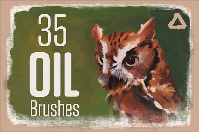 Oil painting brush for affinity ($ 12)
