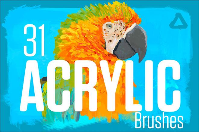 Acrylic brush for affinity ($ 12)