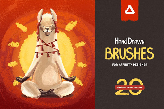 Hand drawn brushes for affinity ($ 17)
