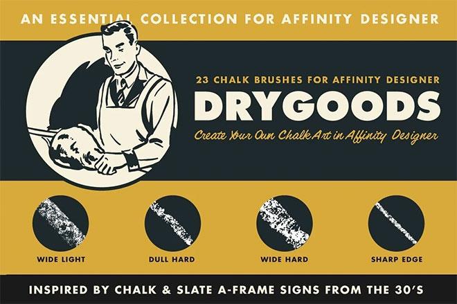DryGoods chalk brush for Affinity Designer ($ 19)