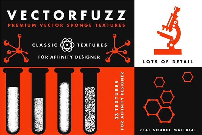 VectorFuzz Vector Texture Brushes for Affinity Designer ($19)