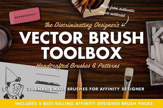 The Vector Brush Toolbox for Affinity Designer ($49)