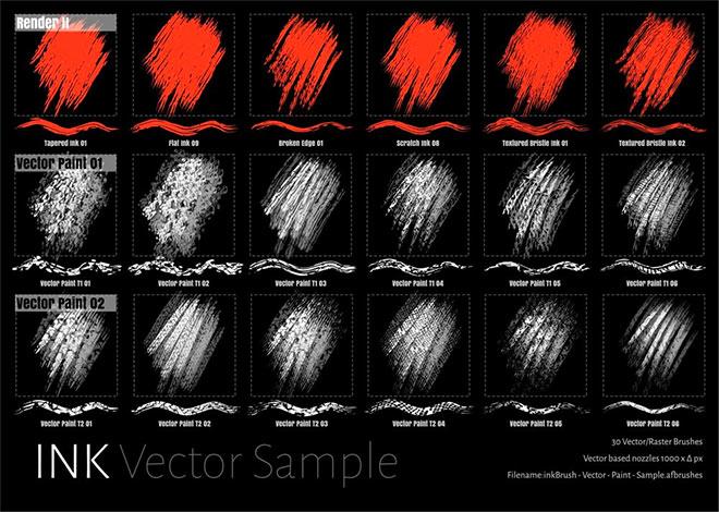 inkBrush Vector Paint sample set (free)