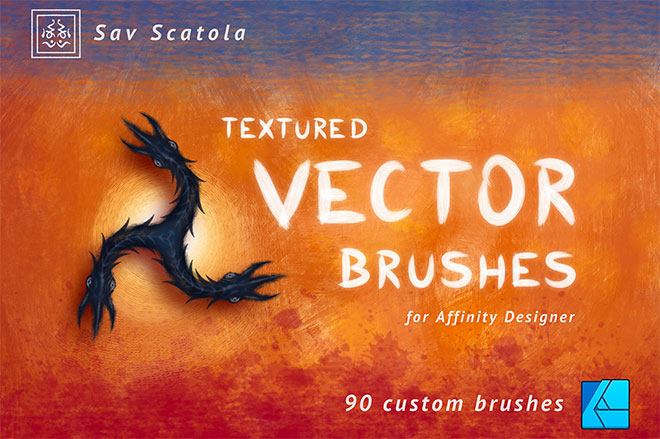 Textured Vector Brushes for Affinity Designer ($6)