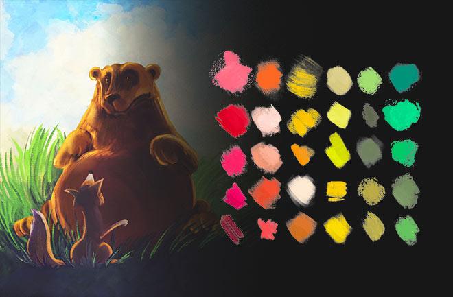 Pigmento Daub Brushes (€ 7.99)