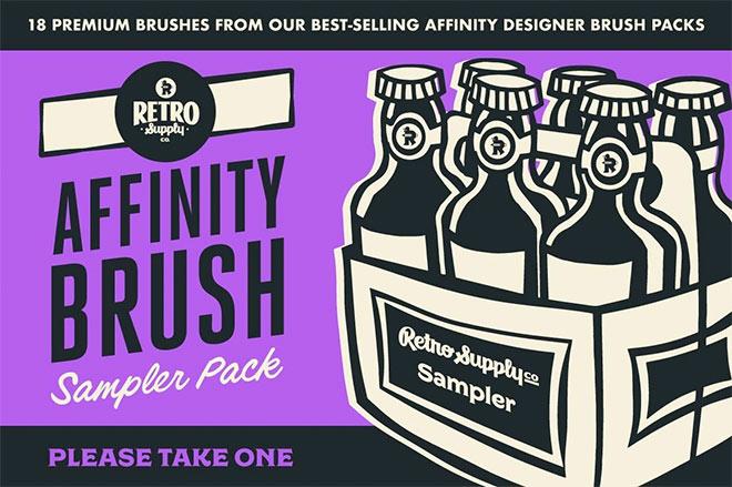 Brush Sampler Pack for Affinity Designer ($ 9)