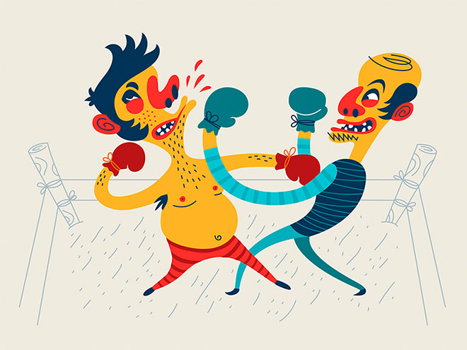 Old School Boxing by Dima Je
