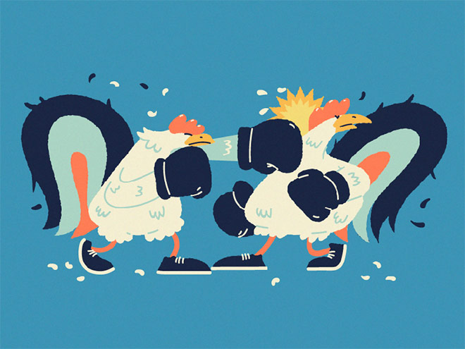 Cockfighting by Slava Kuchinka