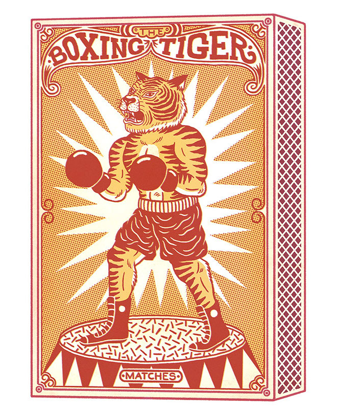 The Boxing Tiger by Dene Rohlmann