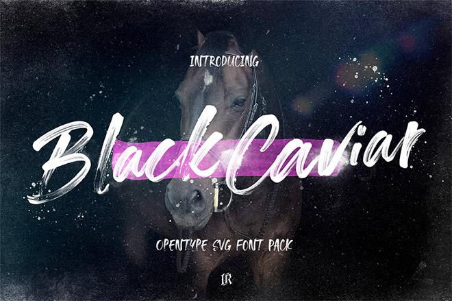 Black Caviar SVG Font