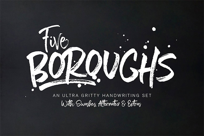Five Boroughs Brush Font