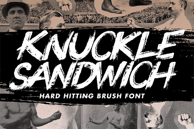 Knuckle Sandwich Brush Font