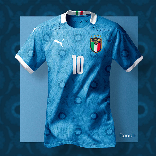 Italy x Puma EURO 2020 Soccer Kit Concept by Mher Rushanyan