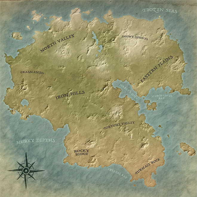 How to Create a Fantasy Map of Your Own Fictional World