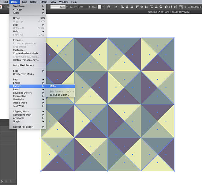 17 - How to Create a Colourful Geometric Pattern in Illustrator
