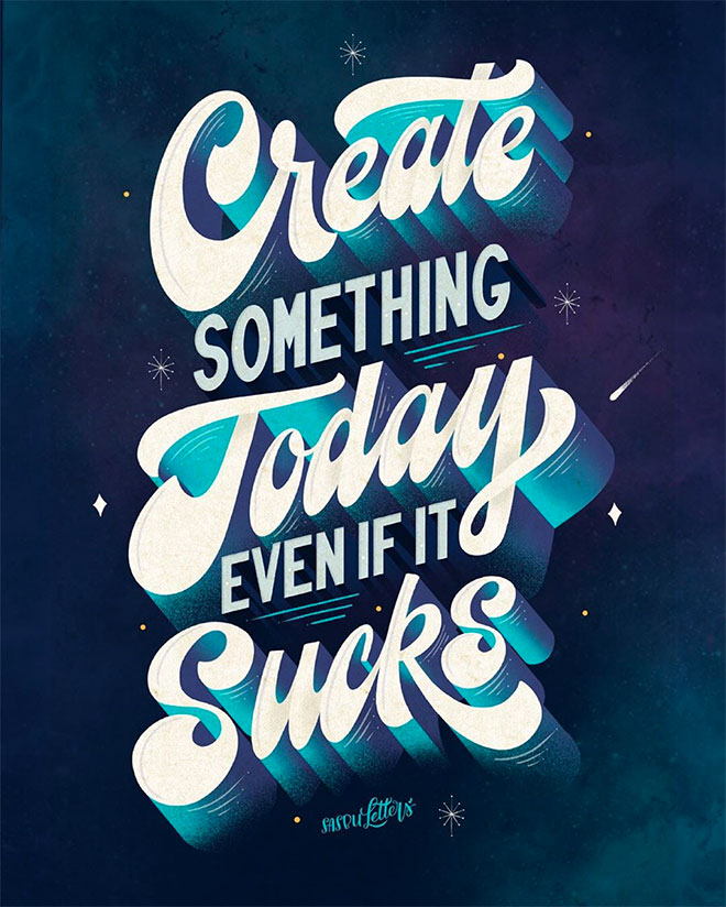 Create Something Today by Sasbu Letters